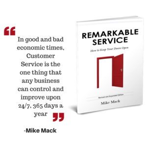 Remarkable Service book with quote - In good and bad economic times